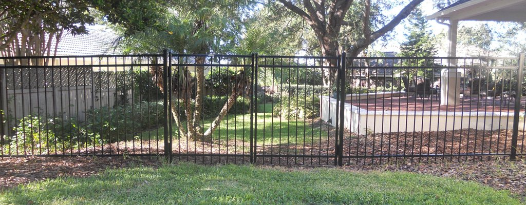 One of our Custom Ornamental Aluminum Fence Installations Central FL